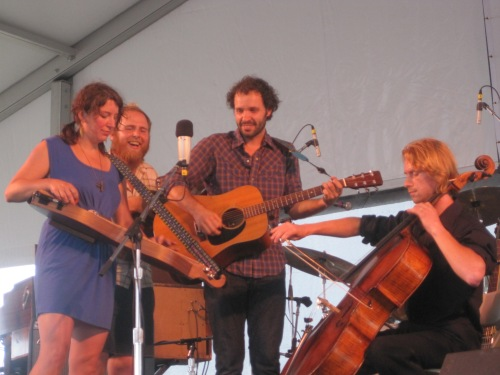 Blind Pilot with guest cellist Sergey Antonov at The Newport Folk Festival