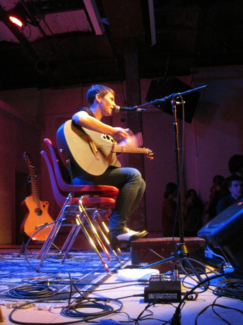 Kaki King is very petite. Check out her chair/s!