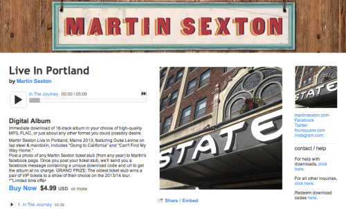 Martin Sexton Live from the State Theatre!
