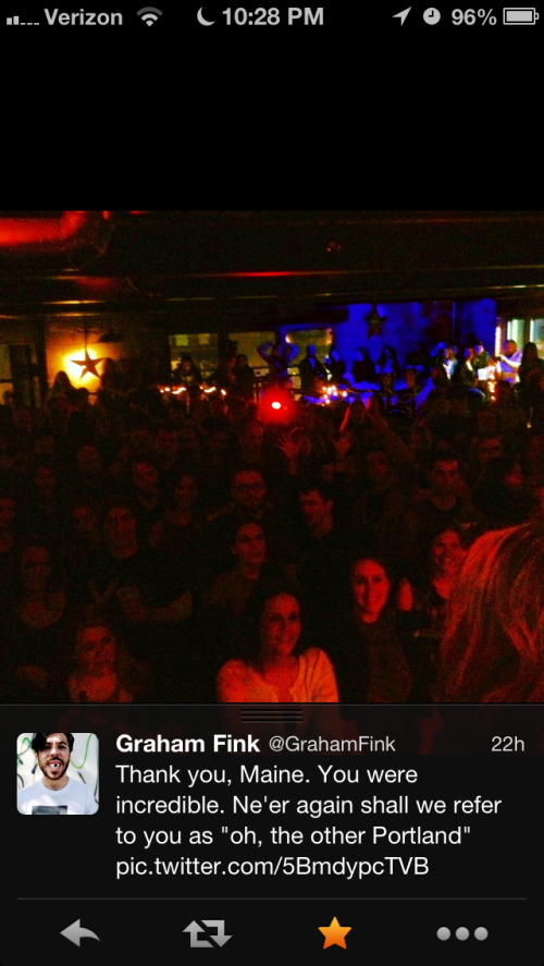 Thanks for the kind words, Graham! Oh--there I am in the front row!