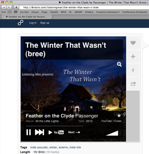 The Winter That Wasn't. A mix for me!