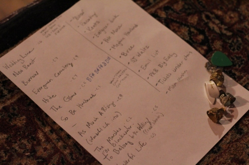 Max's setlist