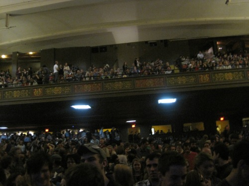 The State Theatre was PACKED!