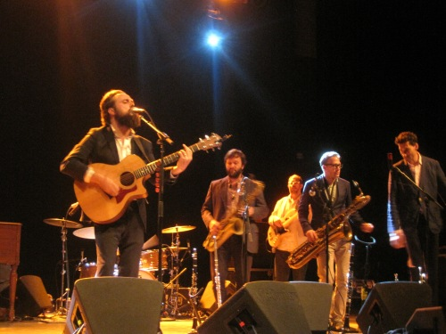 Sam Beam and the fabulous dancing horn section of Iron & Wine