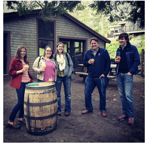 The Gang at Oxbow Brewery. Thanks to Sophie Nelson for the photo!
