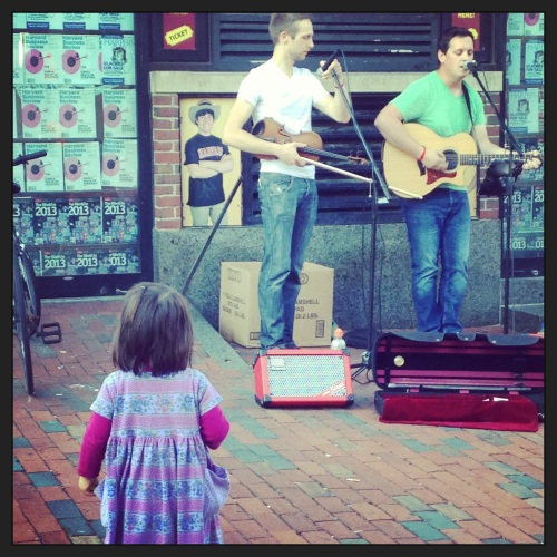 More buskers that we enjoyed with this precious wee one