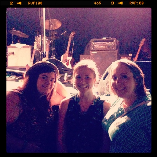 Julie, Andrea, and I touching the stage at The Sinclair
