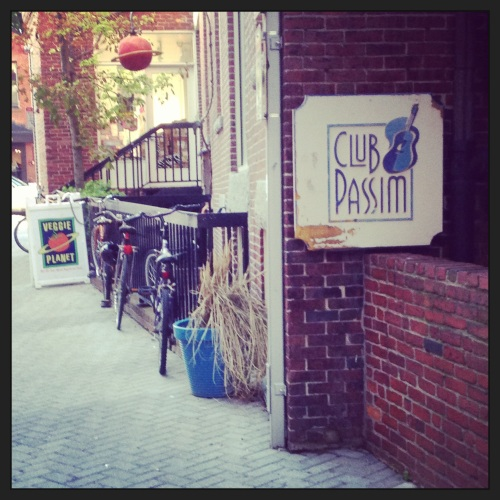 The infamous Club Passim and delicious Veggie Planet