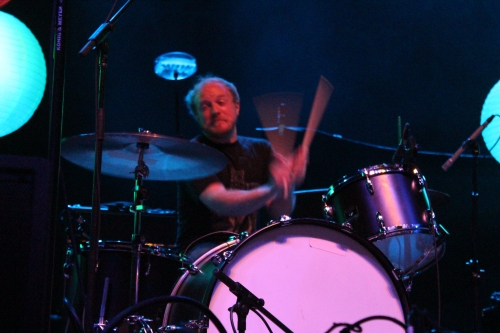 I thoroughly enjoyed watching drummer Chris Rusk's face while he worked!