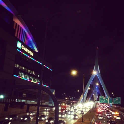 The Boston Garden at night