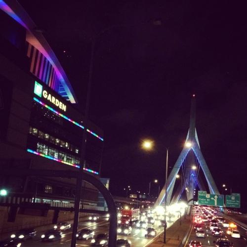 The Boston Garden at night
