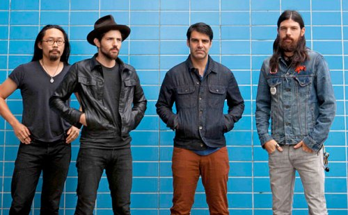 Image by Crackerfarm. (Pictured:  Joe Kwon, Scott Avett, Bob Crawford, Seth Avett).