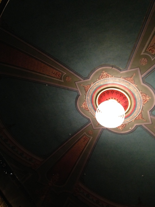 The Music Hall's pretty ceiling