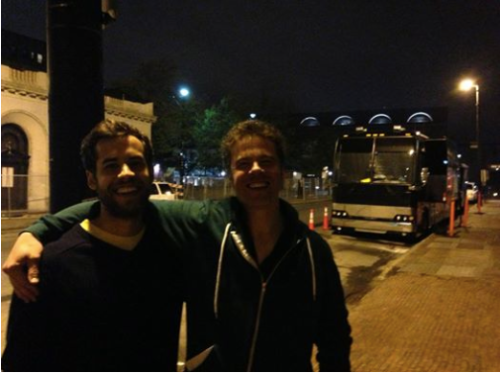 Max Garcia Conover and Josh Ritter. May 2013. Courtesy of Chris Bartlett.