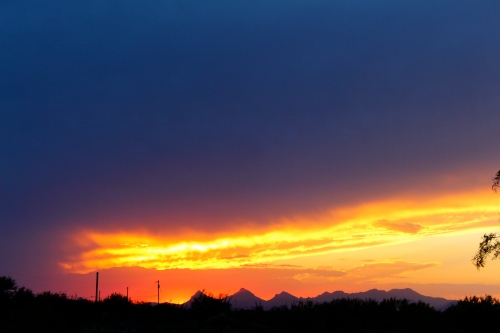 Amazing sunset in Tucson. We had delicious Mexican food in a gas station/barber shop/restaurant that night, too.