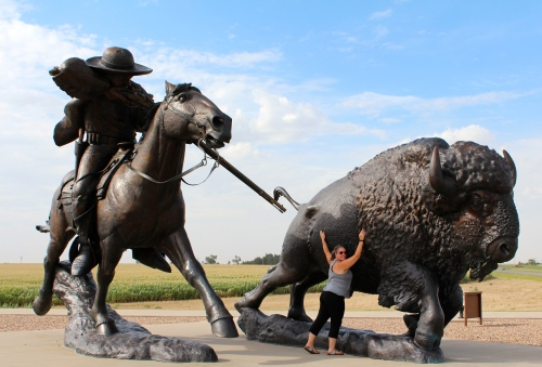 I'm on team buffalo. Buffalo Bill statue in Kansas.