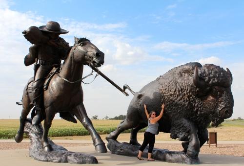I'm on team buffalo. Buffalo Bill statue in Kansas.