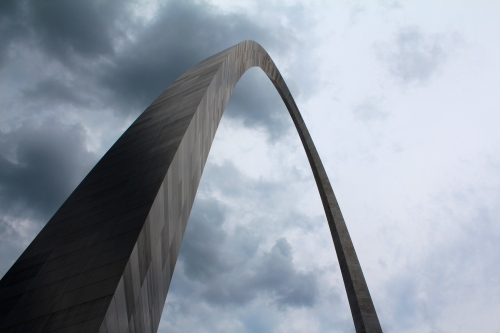 The St. Louis Gateway Arch. We rode a tram up to the top. It was a little scary, but worth it.