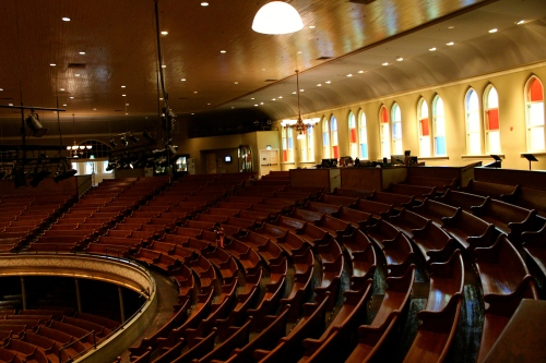 Day seven:  backstage tour of the Ryman Auditorium in Nashville