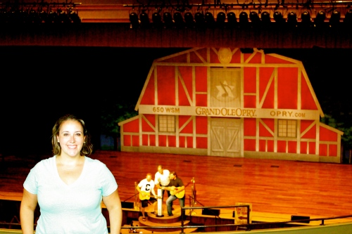 Kind of overjoyed to be in one of the homes of the Grand Ole Opry!