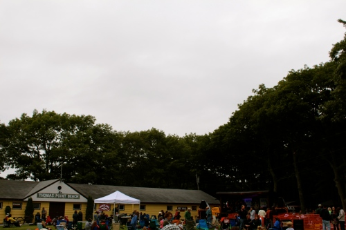 An overcast day for a festival