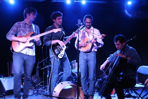 From left to right, Darlingside is Don Mitchell,  David Senft, Auyon Mukharji, and Harris Paseltiner