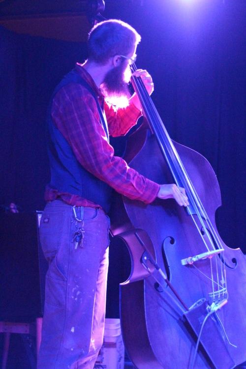Asher Platts on upright bass