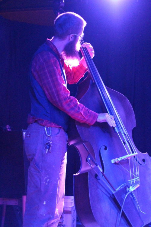 Asher Platts on upright bass