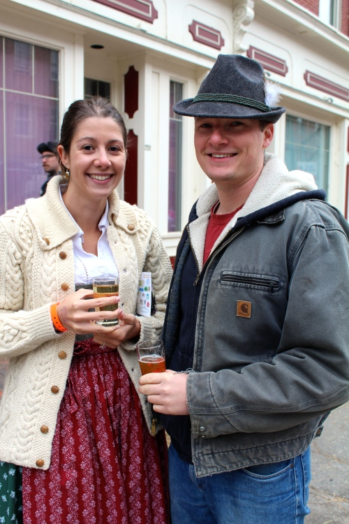 Rachel and Ian appropriately dressed for Oktoberfest