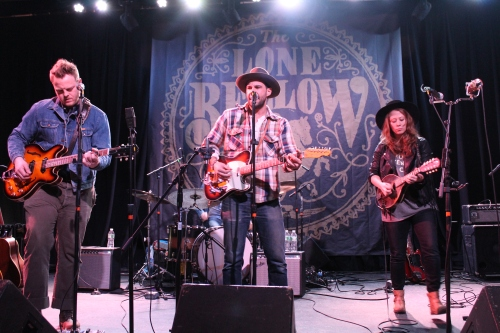 Brian Elmquist, Zach Williams, and Kanene Pipkin of The Lone Bellow