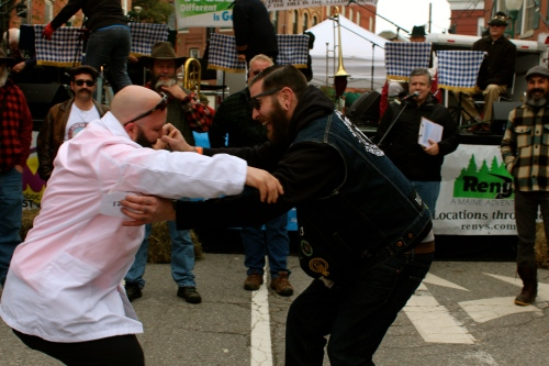 Sometimes, the bearded and mustachioed must dance!