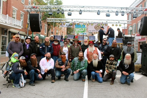 All of the Beard & Mustache Competition entrants!