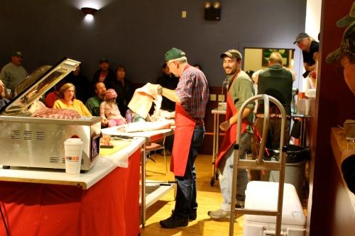 Butchering demonstration