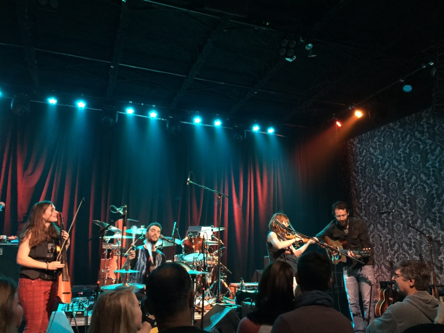 Carbon Leaf's guitarist, Carter Gravatt, joined The Accidentals on stage for a song